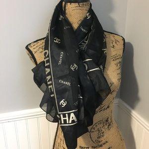 Used Chanel Silk Scarf